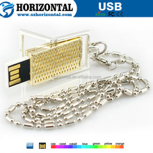 2015 popular Long chain necklace pendant USB flash disk for male