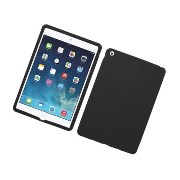 silicone rubber soft cover black gel skin case for apple ipad air