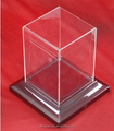 mirrored acrylic display case/ clear acrylic display boxes