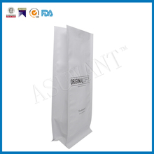 Coffee Tea White Kraft Paper Side Gusset Bags recycled coffee Packaging Pouch