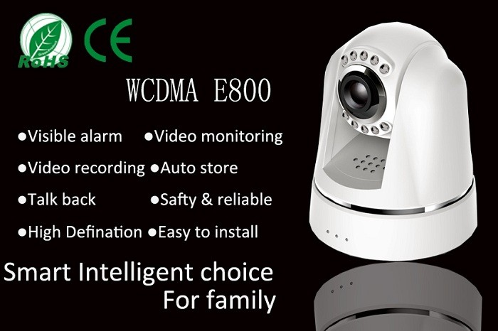 APP control GSM WCDMA wireless home office video surveillance alarm system with video call and sms function