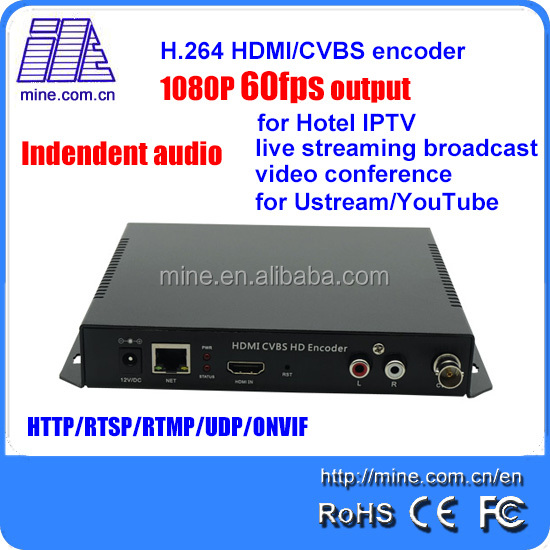 NEW H.264 hdmi cvbs encoder 1080p60fps output for sport tv