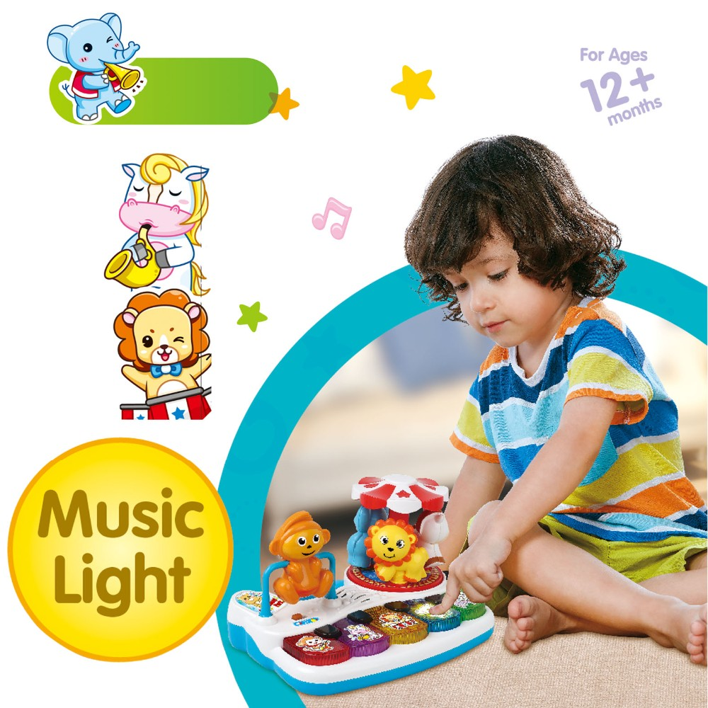 Multi-functional Amusement Park Funny Baby Toys With Piano