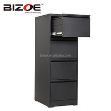 Kd cole office furniture metal file hanging drawing vertical A4 lateral godrej 4 drawer steel filing cabinet