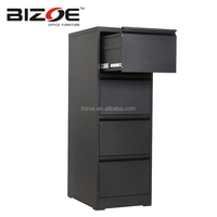 Metal commercial office furniture godrej 4 drawer design vertical steel filing cabinet