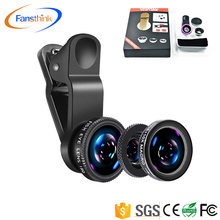 2018 New 3 in 1 Camera Lens Kit Wide Angle 10X Macro 180 Degree Fisheye Lens Clip on Cell Phone for iPhone x 8 7 Plus 7 6s Plus