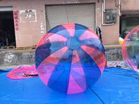 Blue and pink strips inflatable water balls