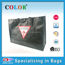 Black warning matt lamination non woven bag
