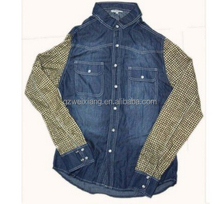 Wholesale clothing latest stylish denim jeans shirt men