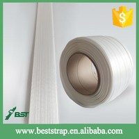 BST White Fibers Composite Strap Polyester Cord Strapping For Industry Packing