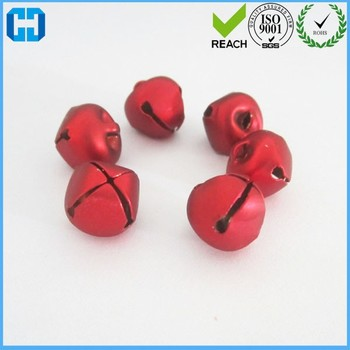Colorful Iron Loose Metal Beads Jingle Bells For Christmas