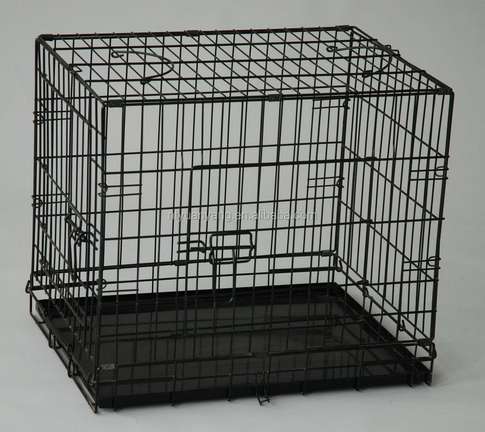 trade assurance black Dog Cages Double Door Metal Multiple Sizes