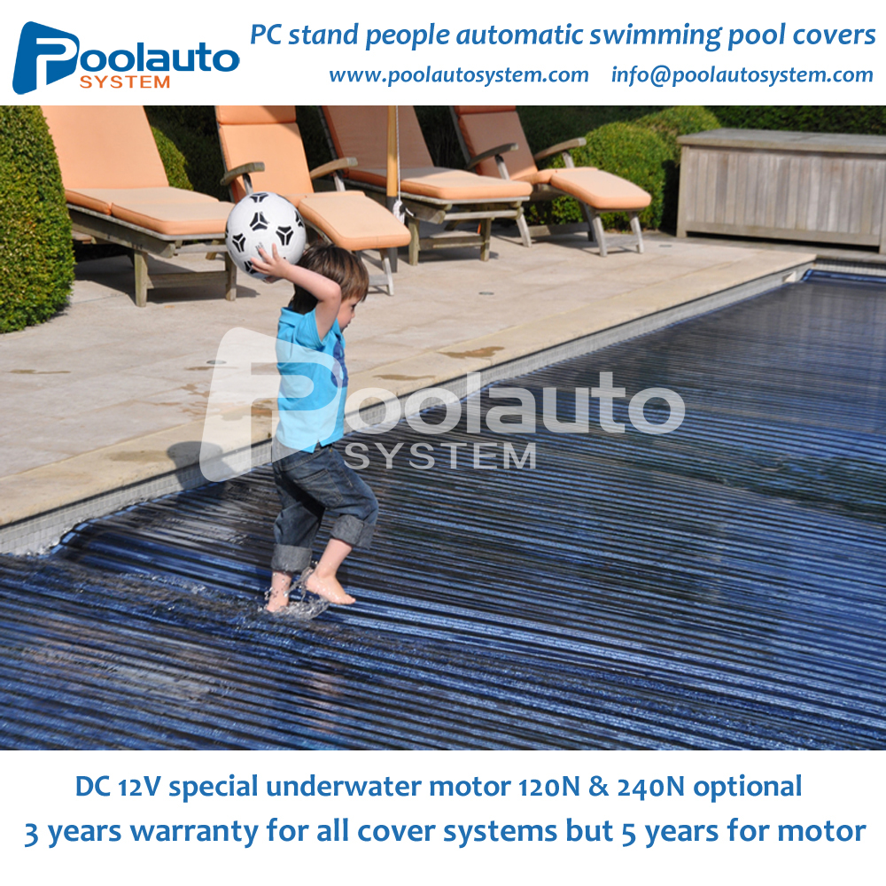 swimming pool Polycarbonate automatic swimming pool cover