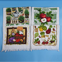 best quality factory price cotton printed kitchen tea towel