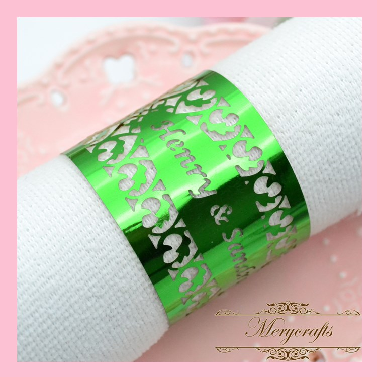 NP01 Wonderful Classical Design Party Supplies Events Decoration Dinner Laser Cut Napkin Ring