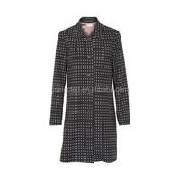 OEM Service Supply Type for Ladies elegant woollen long tweed coat with printed satin lining and buttons and 2 pockets