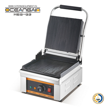 HEG-G3 Electric 2500 Watts CE RoHS single contact grill
