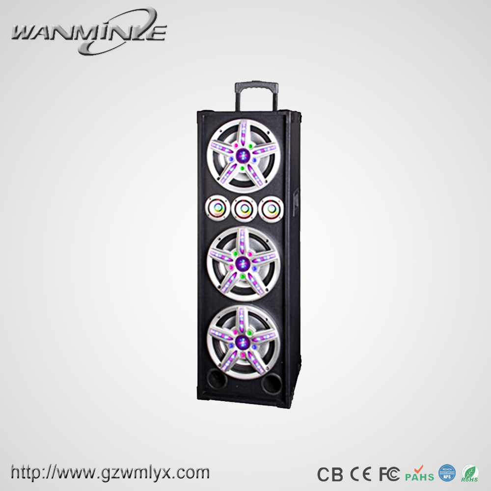 Triplicate 10inch Bass Portable Active Sound System with Guitar Function 240W Max Power Mp3 Player