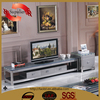 modern stainless steel leg marble top tv stand