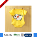 boutique baby girl printing style cute type infant clothing 100% combed cotton soft romper