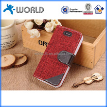 Made by hand jeans fabric cross stitch phone case for iphone 6 factory price