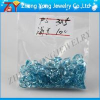Aquamarine Cubic Zirconia/Pear Synthetic Stone/Luster CZ Stone