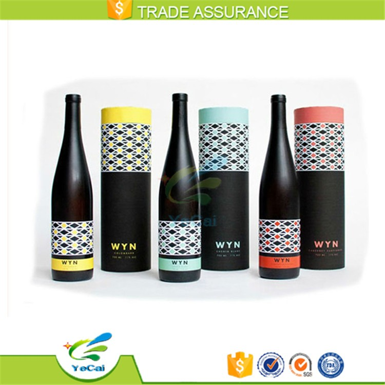 Round paper cardboard wine bottle box divider for gift packaging