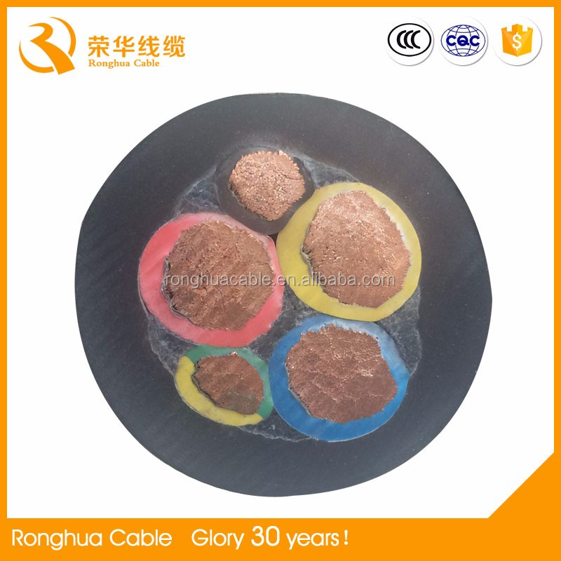 Ronghua rubber insulated electrical cable made in china