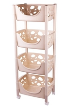 China supplier pp materials plastic storage rack