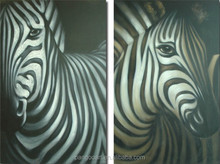 Hand Painted Abstract Zebra Oil Painting On Canvas Paintings Wall Pictures Animals Painting For Living Room