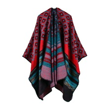 O'YUE-new selling color scarf traveling cloak high-end women's two-sides to wear shawl NO.20171122