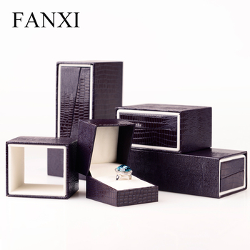 FANXI Chinese Luxury Lovers Present Jewelry Packaging Box Ring Necklace Pendant Gift Boxes Leatherette Paper Jewelry Box