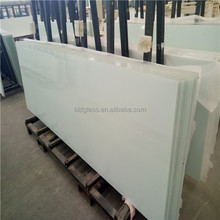 Frosted tinted milk white black opaque laminated tempered glass price