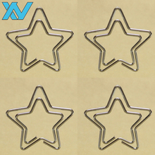 Metal wire Silver color OEM Star shaped paper clips promotional gift clip sets