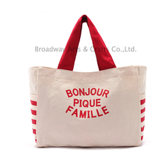New design promotional canvas cotton shopping bag with handles