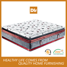 2017 Comfortable Double pocket coil spring memory foam mattress