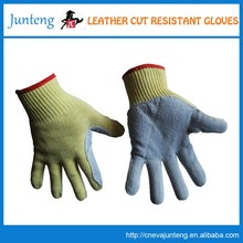 china online laminated yellow cotton chore gloves