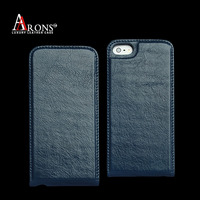 Top quality iol wax genuine leather flip cover case for iphone 5