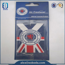 2mm (cotton-paper) paper air freshener in hand shape (MSDS certificate available,fragrance long-lasting&non toxic)