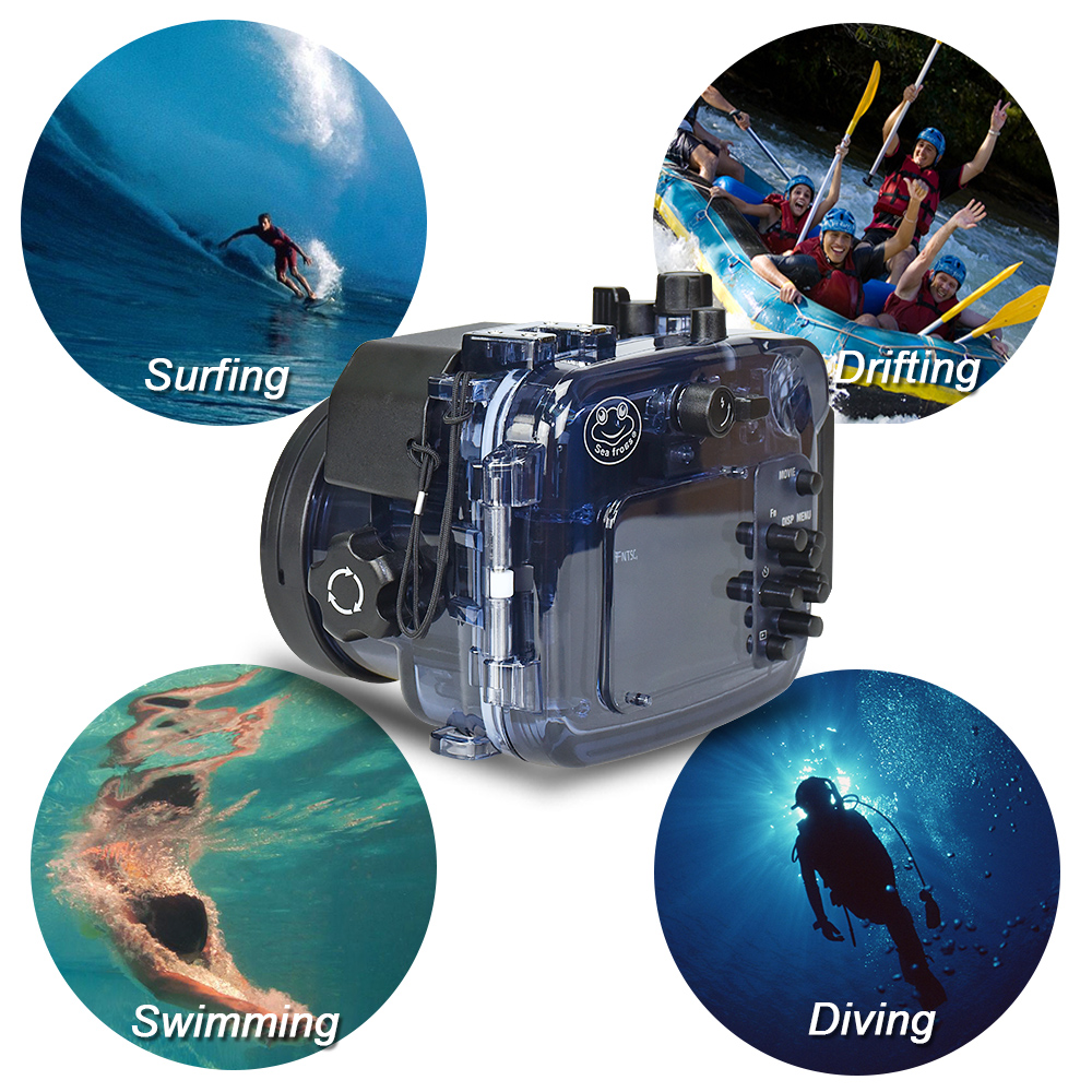 Meikon RX100(1-5) underwater case Professional for Sony rx100/ II/III/IV/V  plastic camera case waterproof up to 40M/130F