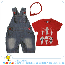 China wholesale latest fashion 100% cotton summer cute clothes set for baby girl