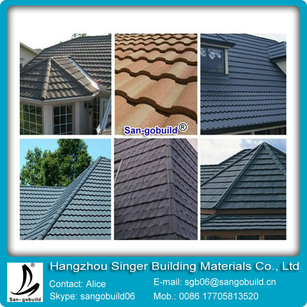China Low Price Stone Coated Metal Roof Tile/Roof Shingle