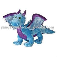 hot sale blue color standing soft plush toy dragon