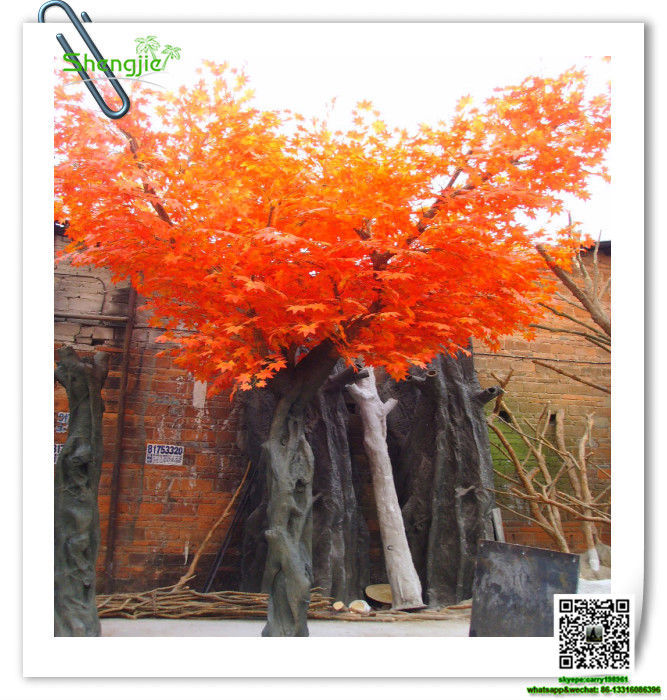SJFS-03 artificial ornamental plants large artificial red maple tree artificial autumn tree