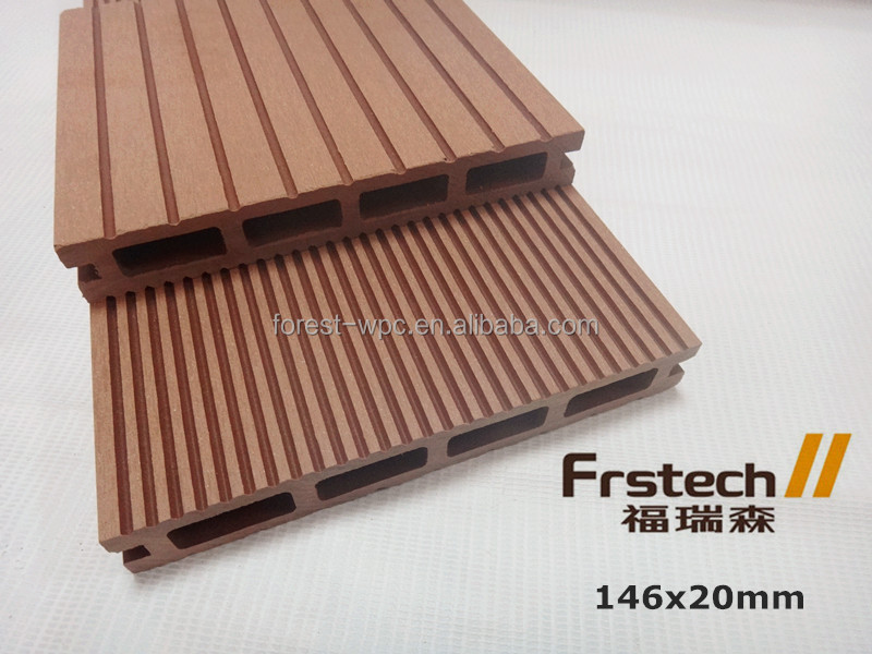 146x20mm wpc decking composite wood wood plastic composite pellet