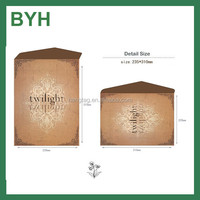 Customized simple design A4 250gsm kraft paper envelope