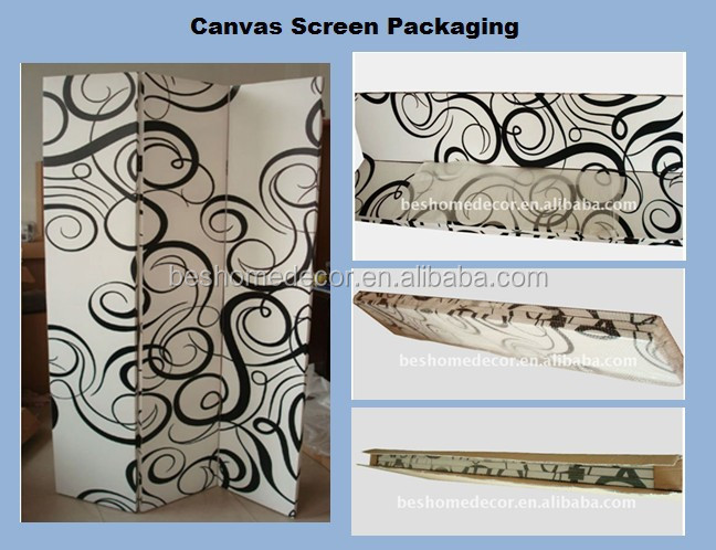 LED room divider seascape canvas screens 3 panels painted room divider