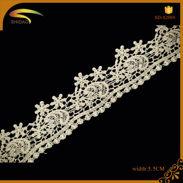 gold and silver embroidery lace gold metallic lace trim for garment decoration cheap lace trim JX004