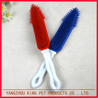 High quality rubber dog products comb massage pet supplies brush