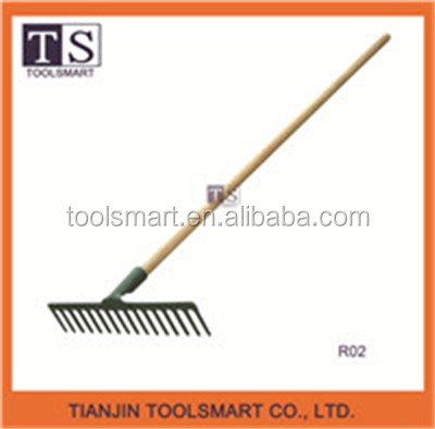 garden hand hay rake with long handle garden rake leaf rake